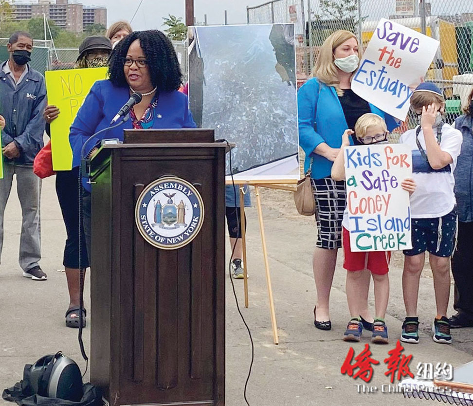 州众议员冯特丝促当局调查康尼岛溪水油污