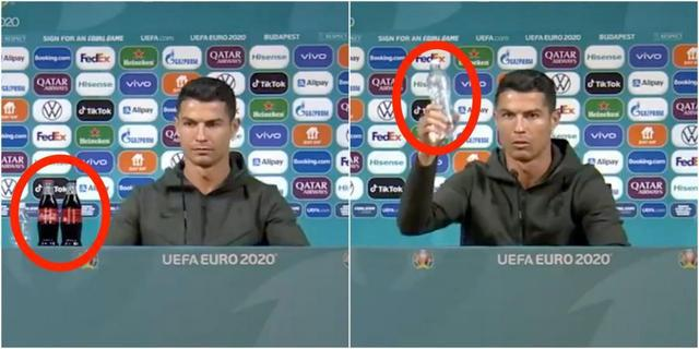 "C罗""可乐梗""被球员争相模仿 欧足联:不要再移走饮料"